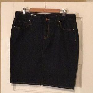 Gap 1969 Dark Wash Jean Skirt
